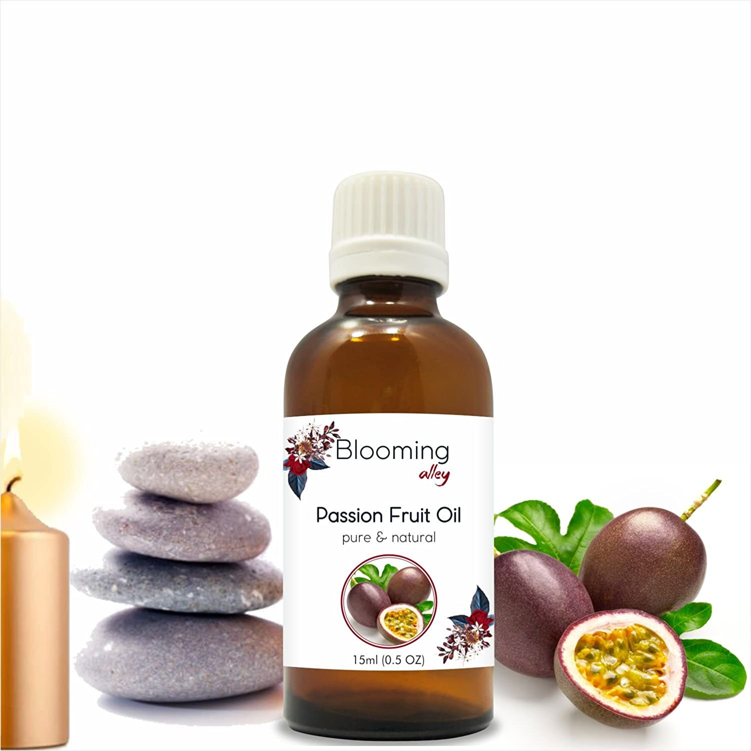 PASSION FRUIT OIL (Maracuja) Carrier Oil By Blooming Alley (15 ml) Salvia Pharmaceuticals
