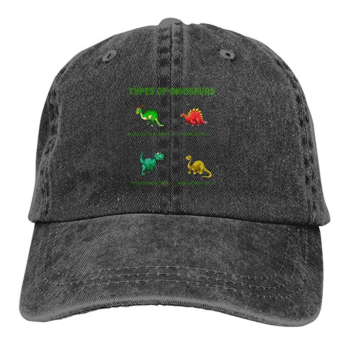 94fc2565433bb Arsmt Types of Dinosaurs Washed Denim Hat Adjustable Unisex Dad Baseball Cap
