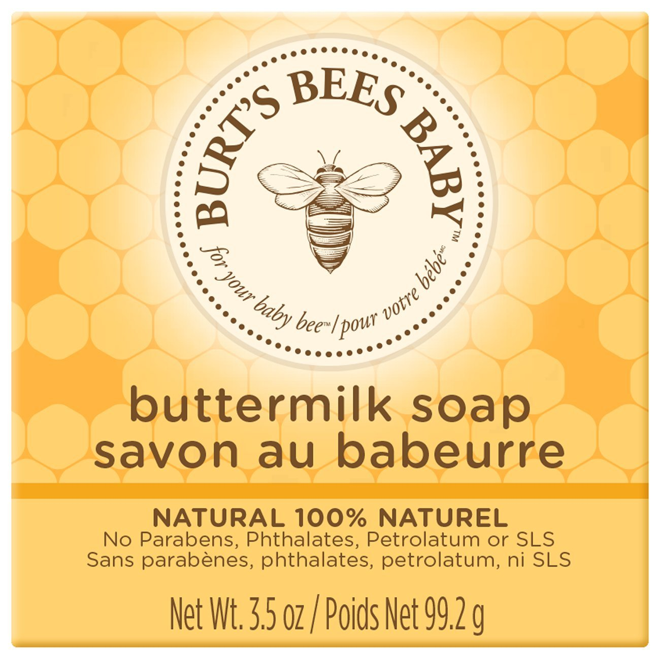 Burt's Bees Baby Buttermilk Soap, 100% Natural Baby Soap Bar, 3.5 Ounce Bar (Pack of 3) Burt' s Bees 709-291