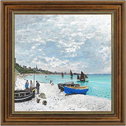Dzhan Wall Art for Living Room Canvas Prints Oil Paintings Reproduction by Claude Monet Framed Decorative Home Decor 20x20Inch