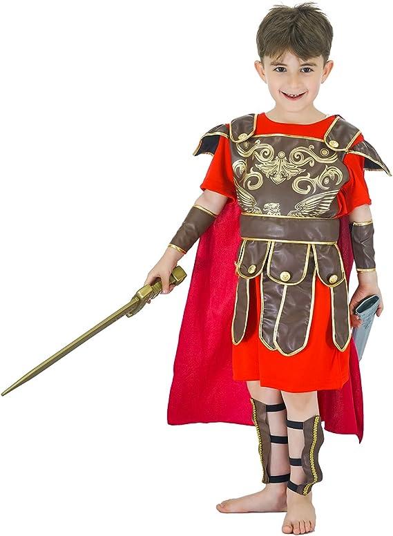 SEA HARE Disfraz de Disfraz de Guerrero Romano para niños (S:4-6 ...