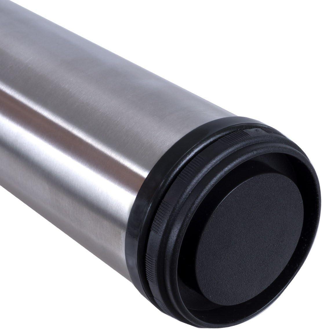 4 x EDELSTAHL Fi Tischfu/ß /Ø60 mm Tischbeine M/öbelfu/ß Befestigungsmaterial Tischfuss Verstellfu/ß M/öbel Fu/ß F/ü/ße 30 mm|inkl H/öhe 820 mm|h/öhenverstellbar