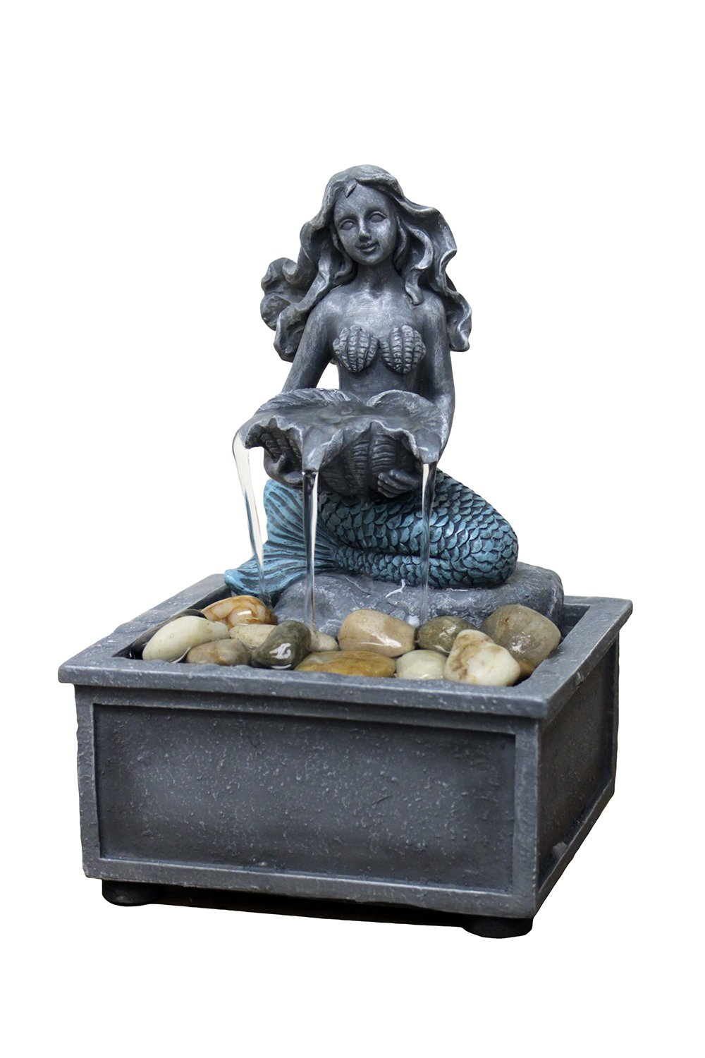 Natures Mark 7'' High Mermaid Table-top Fountain with Adapter