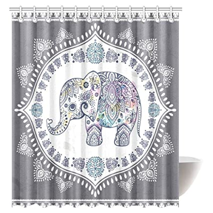Image Unavailable Not Available For Color Bohemian Elephant Shower Curtain