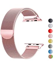 VIKATech Bracelet de Remplacement Compatible avec Apple Watch 44mm 42mm 40mm 38mm| Bracelet en Acier Inoxydable| Bracelets de Rechange Smartwatch avec Aimant compatibles avec iWatch Series 5/4/3/2/1