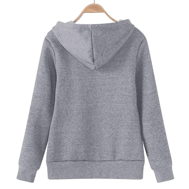 Tiehan Female Hoodies Sweatshirt Autumn Winter Long Sleeve Zipper Hooded Sudaderas Mujer Warm Women Tracksuit Streetwear at Amazon Womens Clothing store: