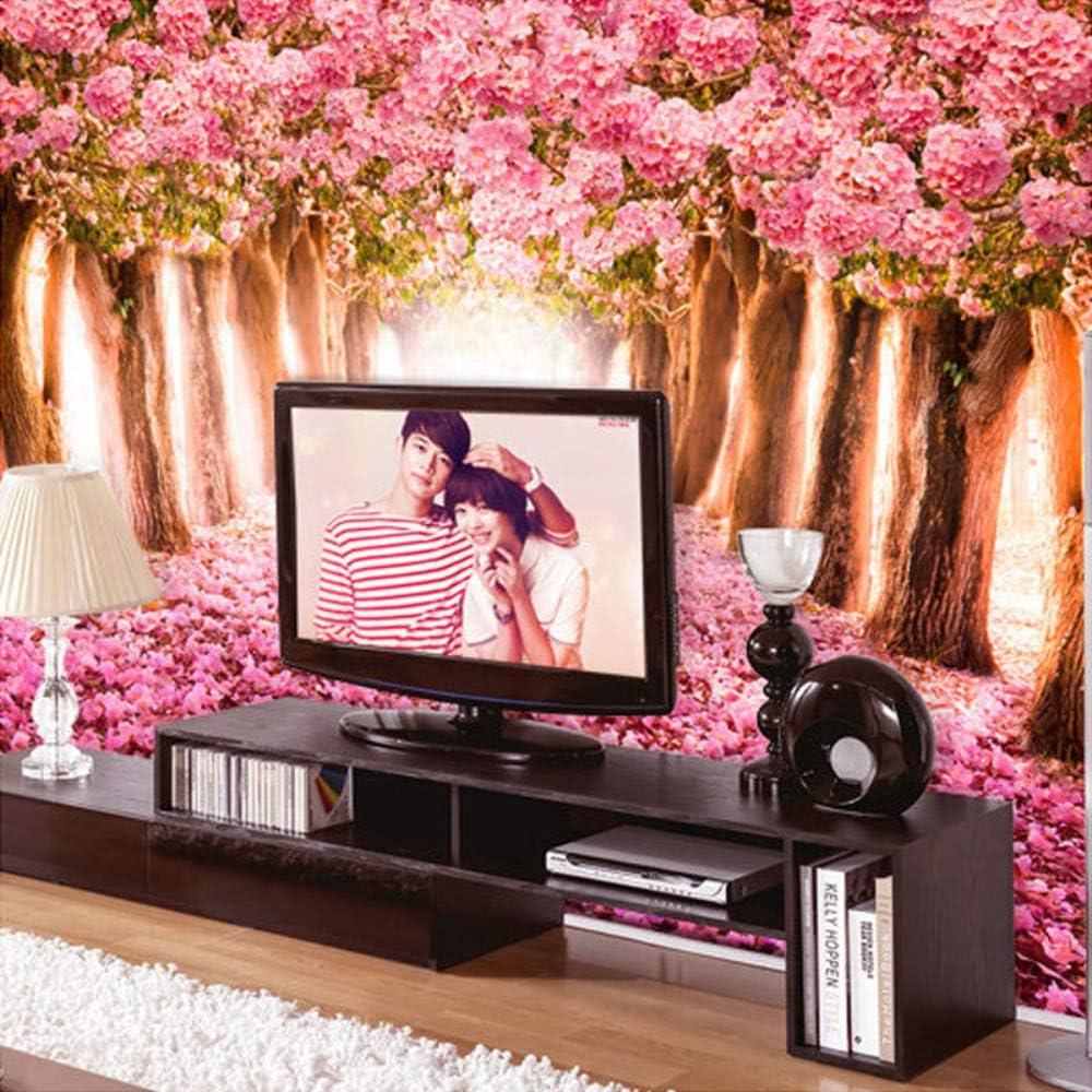 Papel Tapiz Fotográfico Romántico 3D Flores De Cerezo Mural, Papel Pintado Floral Rosado Grande Para Las Paredes De Las Habitaciones De Las Niñas, 280cmX200cm: Amazon.es: Bricolaje y herramientas
