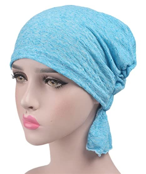 beauty YFJH Print Cotton Chemo Head Scarf Turban Hat Sleep Cap Headwear  Ethnic Wrap Ruffle Beanie 60d3c33fce0