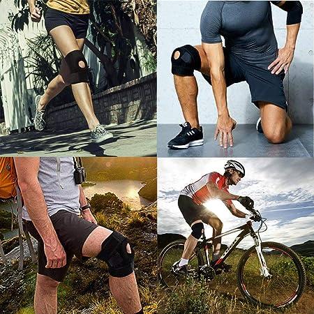 Soporte de rodilla con diseño estabilizador de patatla abierta para menisco, alivia el dolor de artritis, menisco, ACL y protección contra lesiones, soporte de rodilla ajustable para correr, fútbol y otros deportes: