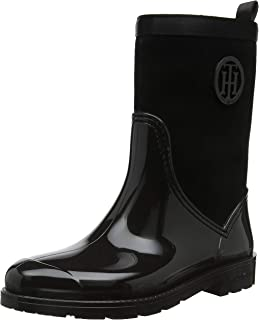 f91c14964df754 Tommy Hilfiger Damen Tommy Knit Rain Boot Gummistiefel  Amazon.de ...