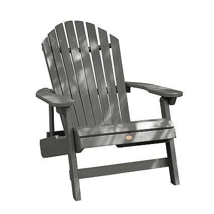 Highwood King Hamilton Folding And Reclining Adirondack Chair, Coastal Teak