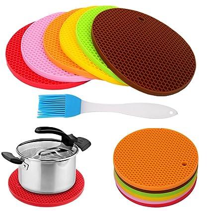 Silicone Multi Use Hot Pads, Pot Holder, Trivet Mat, Jar Opener,