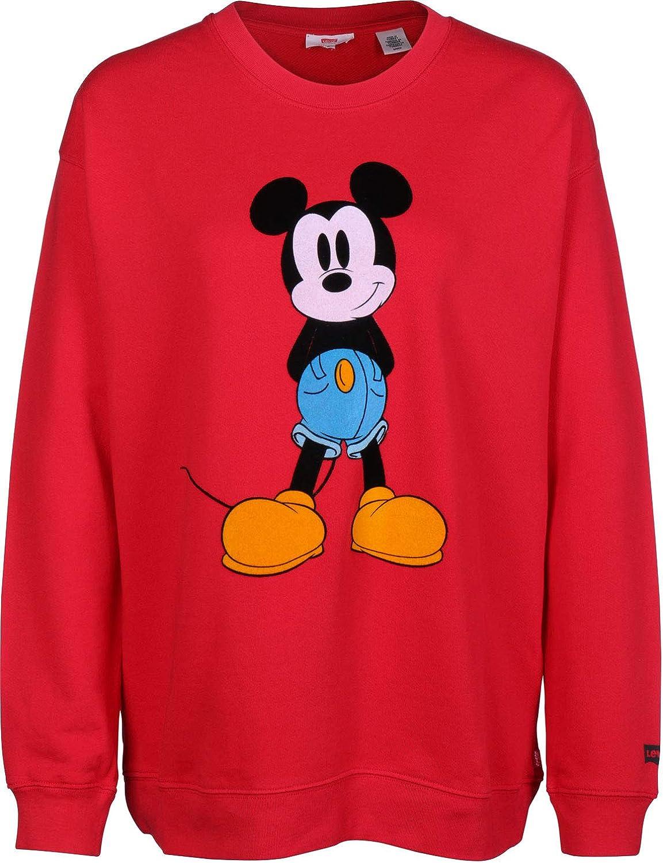 Levis Sudadera X Mickey Mouse Graphic Drop Shoulder CR Rojo XXS (XX-Small): Amazon.es: Ropa y accesorios