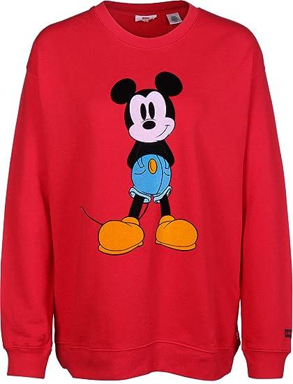 Sudadera Levis Mickey Mouse Rojo para Mujer: Amazon.es: Ropa y accesorios