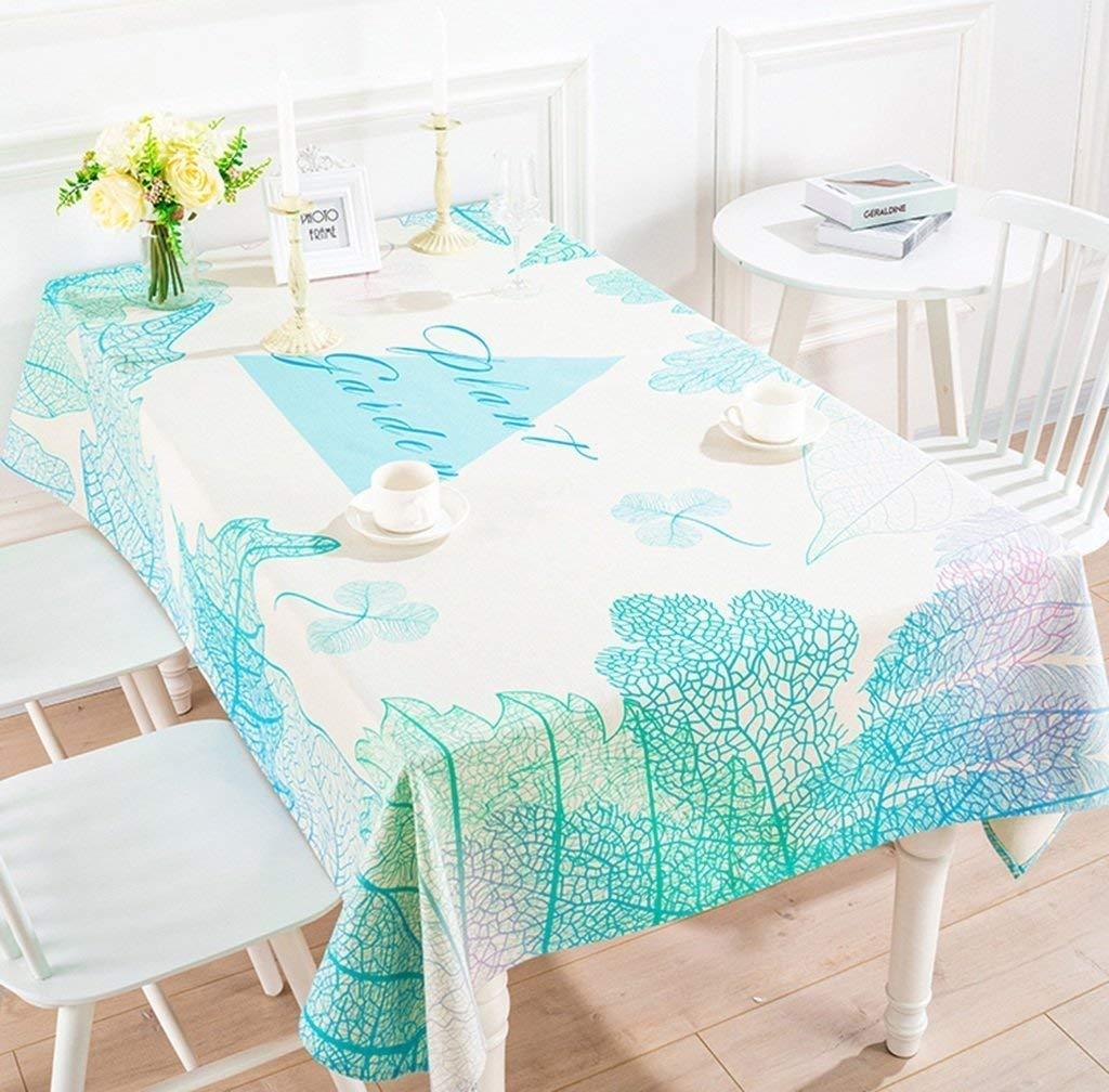 家の装飾布カバー ホームコットンとリネンのテーブルクロス厚く長方形のティーテーブルクロスデスクテーブルクロスレストランラウンドテーブルクロス テーブルクロス   B07RVB2NT9