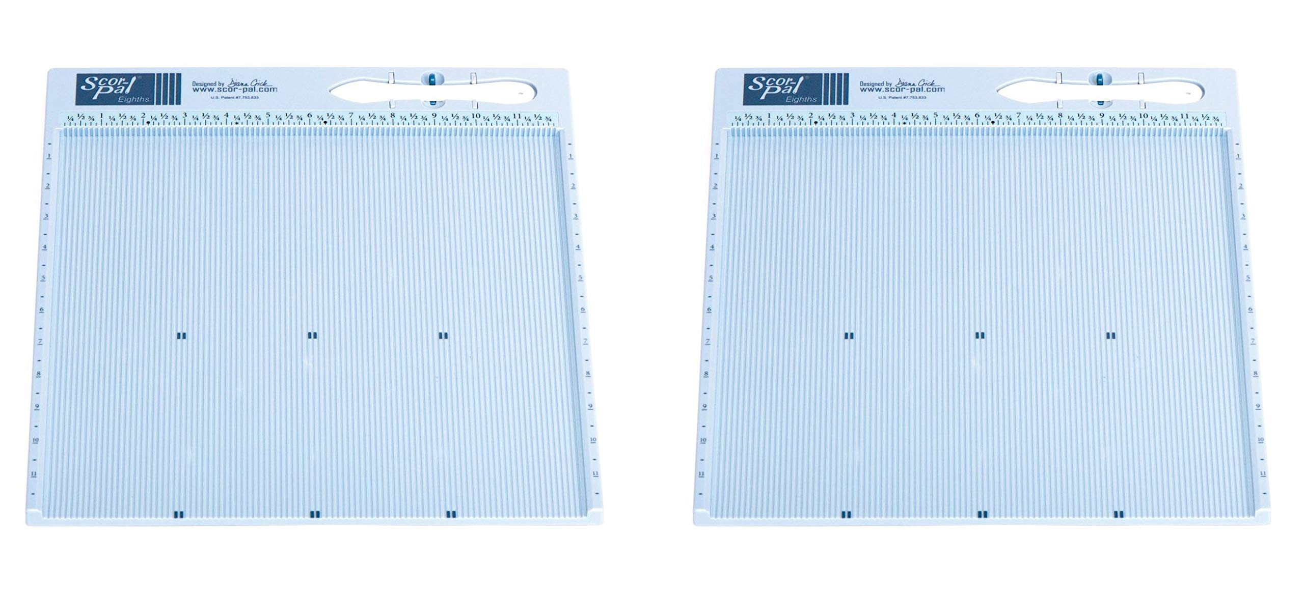 Scor-Pal SP108 Eighths Measuring and Scoring Board, 12'' by 12'', 1/8'' Space Grooves (2-(Pack))