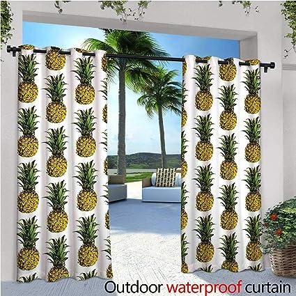 cobeDecor Pineapple Decor Indoor/Outdoor Single Panel Print Window Curtain  Pineapple Illustration Raw Gourmet Remote - Amazon.com : CobeDecor Pineapple Decor Indoor/Outdoor Single Panel