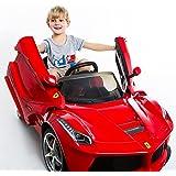 COSTWAY 2.4G La Ferrari Rot Ride-on Kinder Elektroauto Elektrofahrzeug Kinderauto Kinderfahrzeug