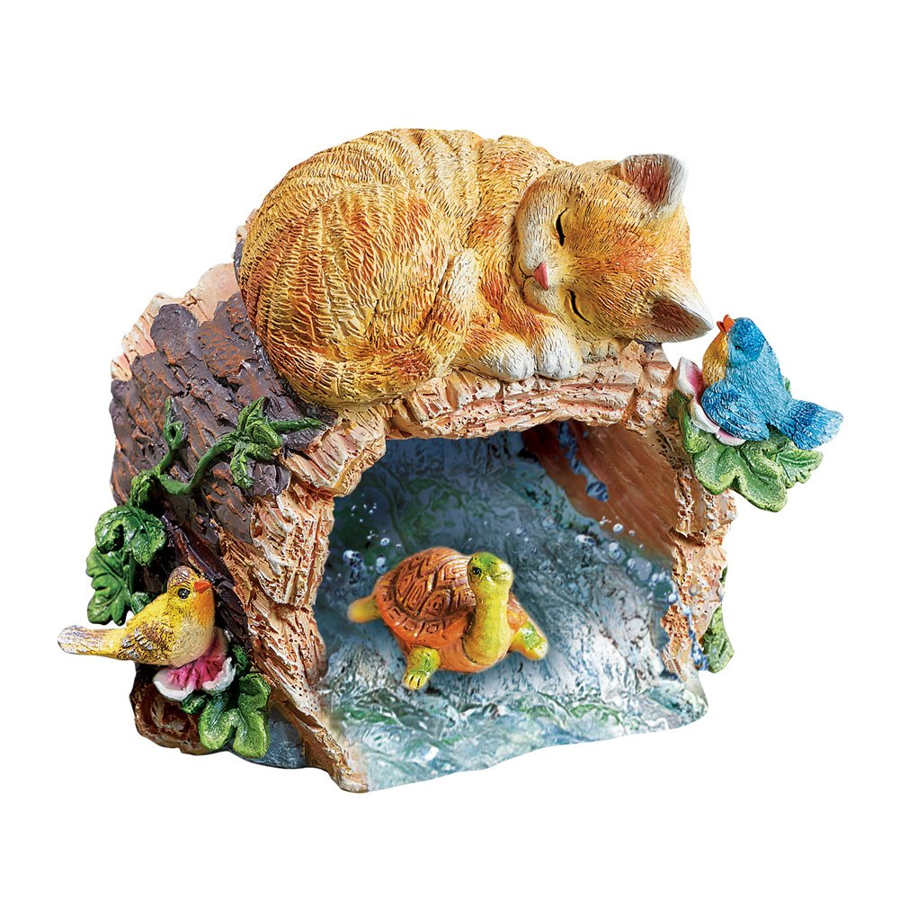 Sleepy Kitty Decorative Downspout Cover Extension Garden Decoration