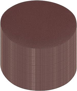 50Pcs 4-inch hook and loop sanding disc 80 grained sandpaper for random orbit sander Brown