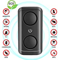 ERACII Ultrasonic Pest Repeller Plug in - Mice Repellent & Rat Deterrent, Powerful Sonic Repellent for Mosquito, Mouse, Cockroach, Rats, Spiders, Ants, Flies