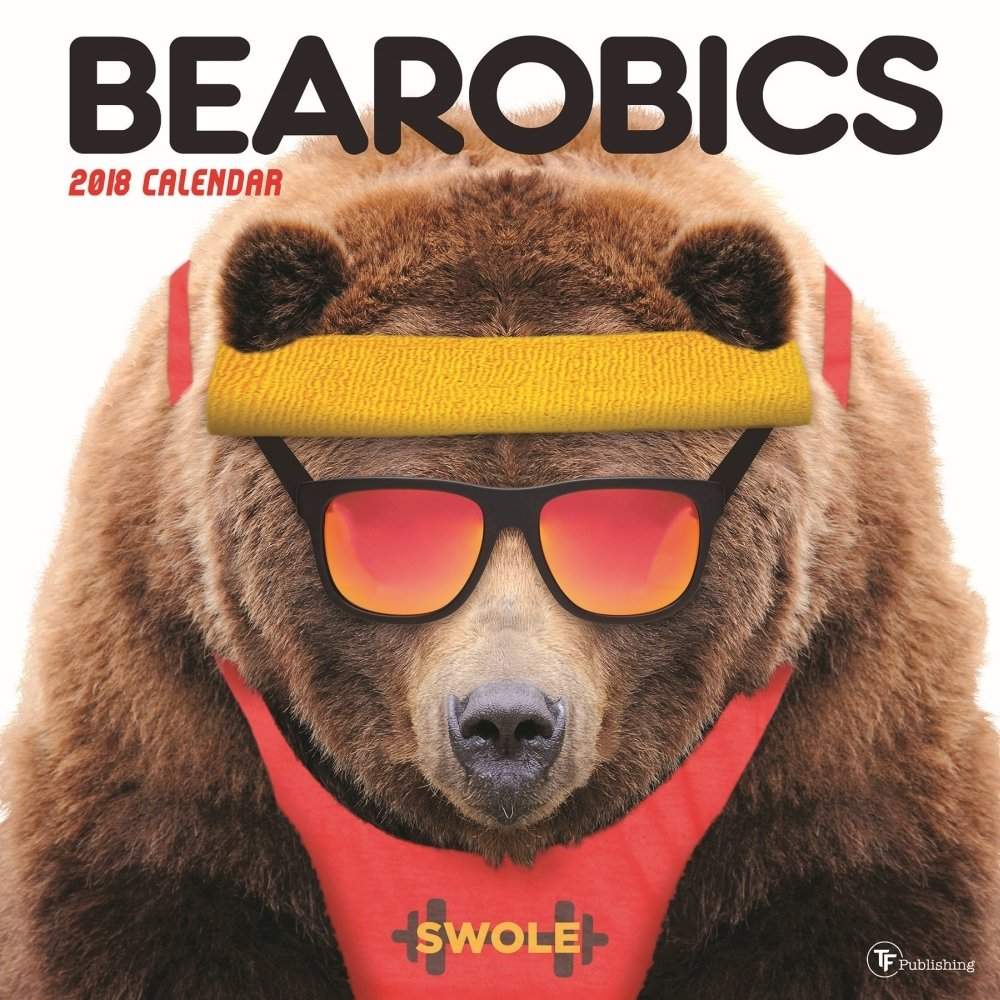 2018 Bearobics Wall Calendar