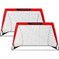 Portable Soccer Goal, Pop Up Soccer Goal Net for Backyard Training Goals for Soccer, Set of 2 with Carry Case, 3.3'/4.5…
