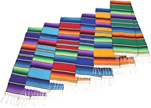 "Leos Imports Mexican Serape Table Runner 72""x12"" (TM) (1 in Assorted Color)"