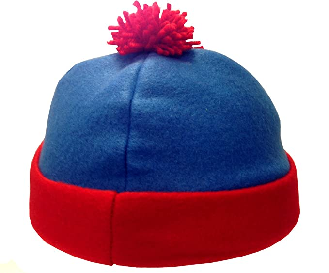 6ba9d54ce1f Amazon.com  Stan Marsh Blue and Red Costume Beanie Hat  Clothing
