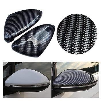 Katurn 1 Par Espejo Retrovisor de Auto para Volkswagen Golf 7, Modificación de Fibra de