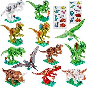 Faburo 21 Pcs Dinosaurio Set:12 pcs Dinosaurio Jurásico Dinosaurio ...
