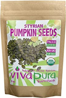 product image for Styrian Pumpkin Seeds, Raw, Organic, 8 oz Compostable Bag