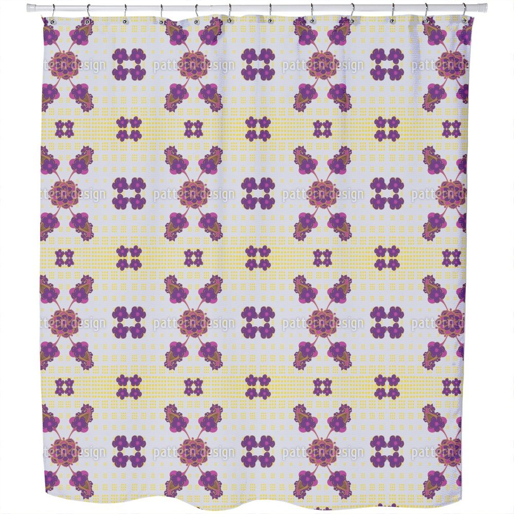 Uneekee Fantastic Purple Shower Curtain: Large Waterproof Luxurious Bathroom Design Woven Fabric