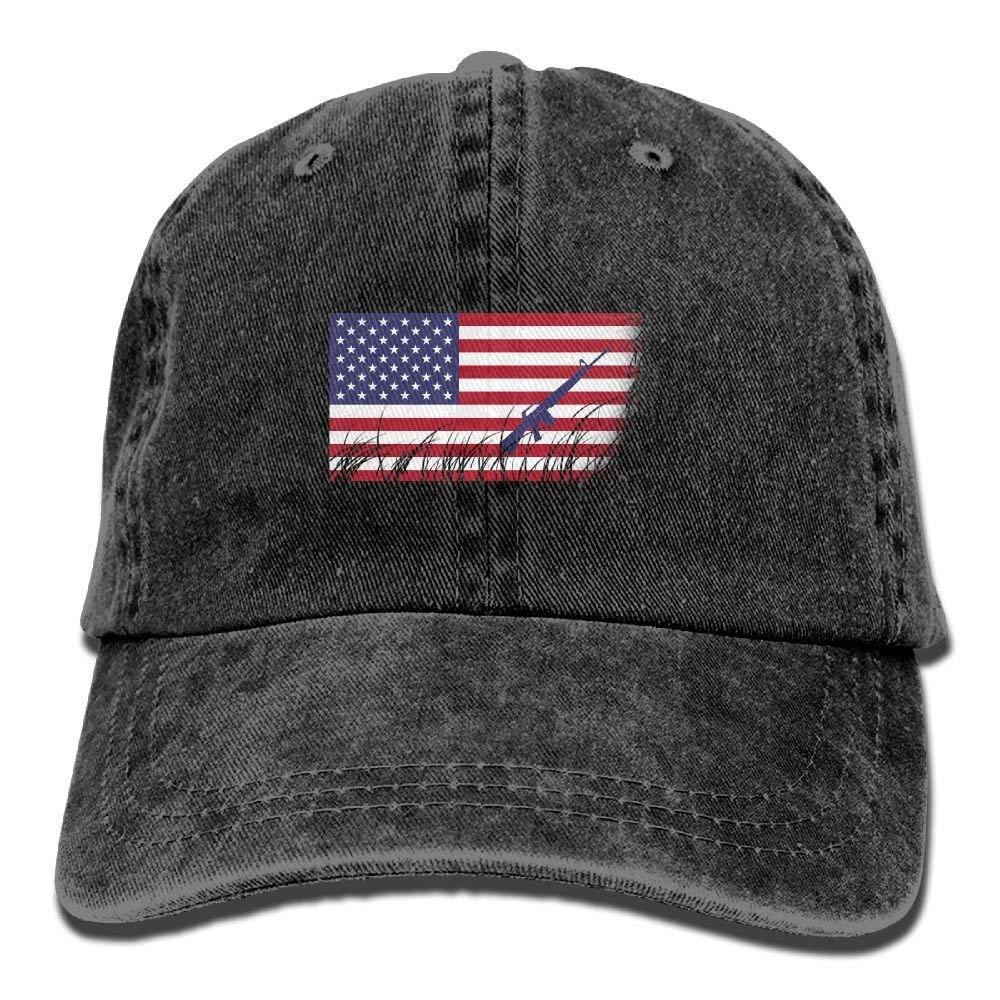 1131fef2946 Amazon.com  AK-47 American Flag Adjustable Cotton Hat Ash  Clothing