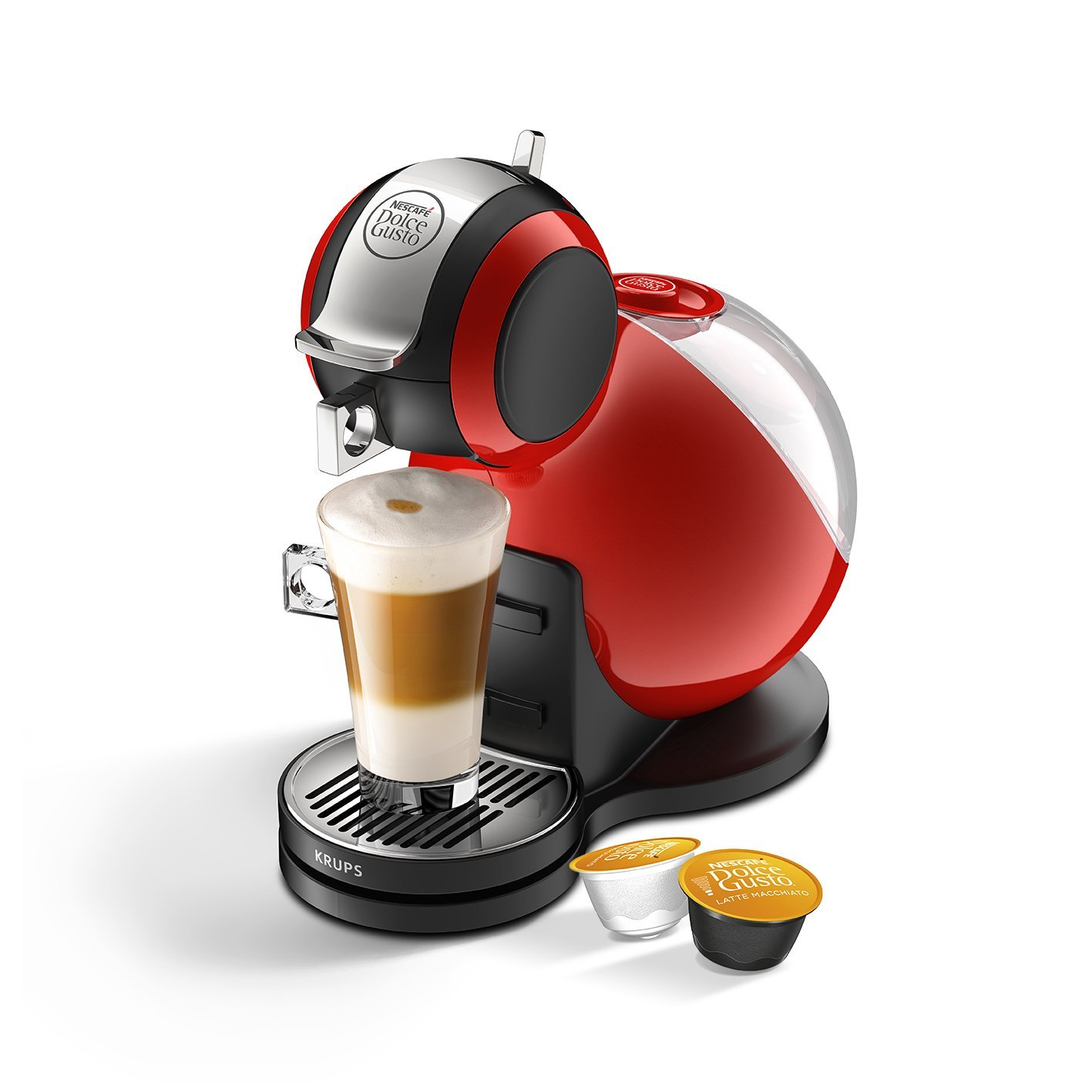 nescafe dolce gusto melody 3 manual coffee latte machine red by krups kp220540 ebay. Black Bedroom Furniture Sets. Home Design Ideas