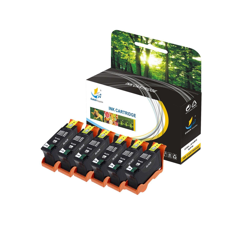 キャッチSupplies t109 N t110 Nシリーズ24交換用高Yieldインクカートリッジと互換性デルp713 W v715 Wプリンタ|330 – 5287ブラック、330 – 3288 multicolor| 6PK - 4BK, 2CL ブラック B074XJFV93 6PK - 4BK, 2CL  6PK - 4BK, 2CL