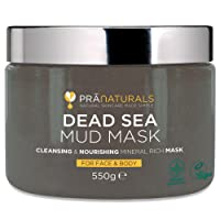 PraNaturals Dead Sea Mud Mask 550g/19.4oz - Premium, 100% ORGANIC, NATURAL & VEGAN Certified, Cruelty-Free Cosmetic for Face, Body & Face - Naturally Rich in Nourishing Minerals Which Hydrate, Detoxify & Deeply Cleanse Skin - Free of Additives, Alcohol, Fragrance or Parabens - Anti-Ageing Properties Help Clear Blemishes and Wrinkles & Reduce Appearance of Stretchmarks and Acne Scars - Suitable for All Skin Types - Targets Blackheads & Minimises Pores, 100% Natural Facial Detox Treatment