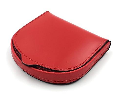 FJR-ArtPiel - Monedero de tacón clásico Piel Ubrique - Alta Calidad - Rojo
