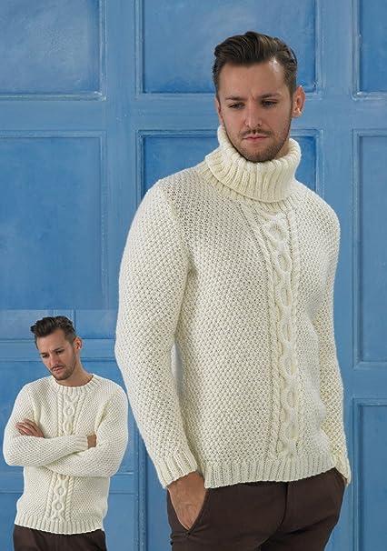 Amazon Com Stylecraft Life Aran Sweaters Knitting Pattern 8713