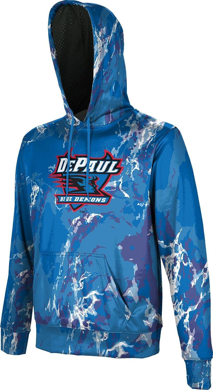 Marble ProSphere DePaul University Mens Pullover Hoodie School Spirit Sweatshirt