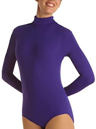 2ed6a69884 Image Unavailable. Image not available for. Color  Bodywrappers Long Sleeve  Turtleneck Leotard ...