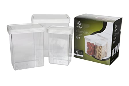 Click Clack Kitchen Essentials Large Airtight Canister Set