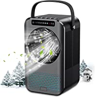 Nuaer Portable Air Conditioner, Air Cooler with 600ML Water Tank, Desktop Air Conditioning Fan with 7 Colors Lights…
