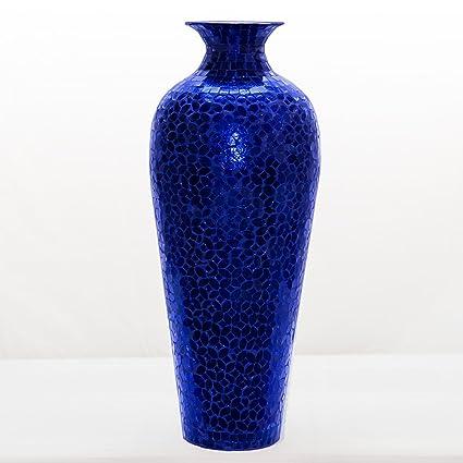 Amazon Decorshore Vedic Vase Sparkling Metal Floor Vase With
