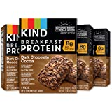 KIND Breakfast Bars,Dark Chocolate Coca Bars, 8g Protein, Gluten Free, 4 count (pack of 4)