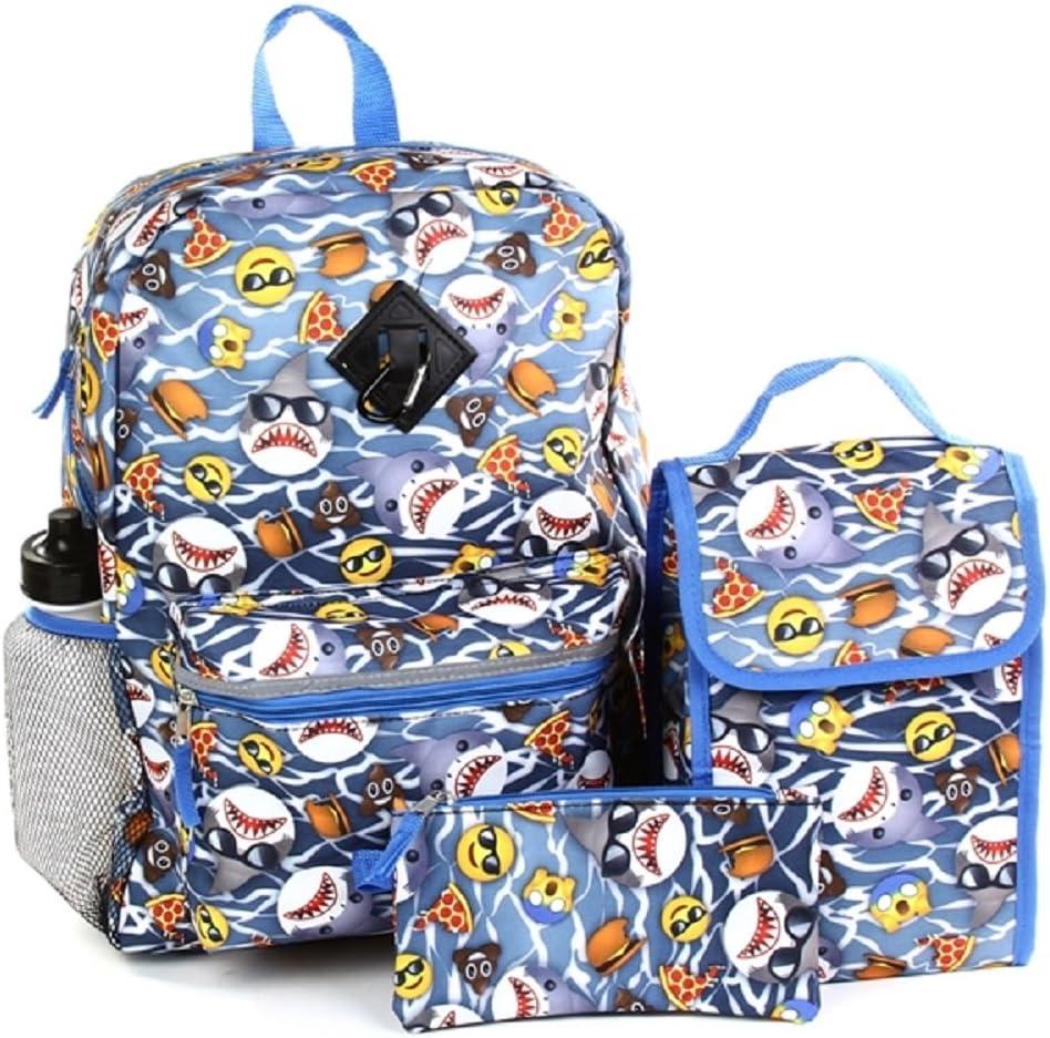 CONFETTI 5-Piece School Backpack (Shark)