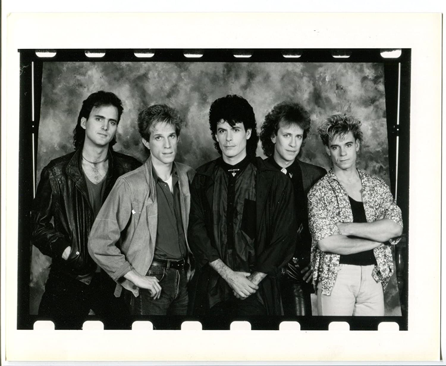 Movie photo 80s rock band 8x10 black and white promo still reproduction fn at amazons entertainment collectibles store