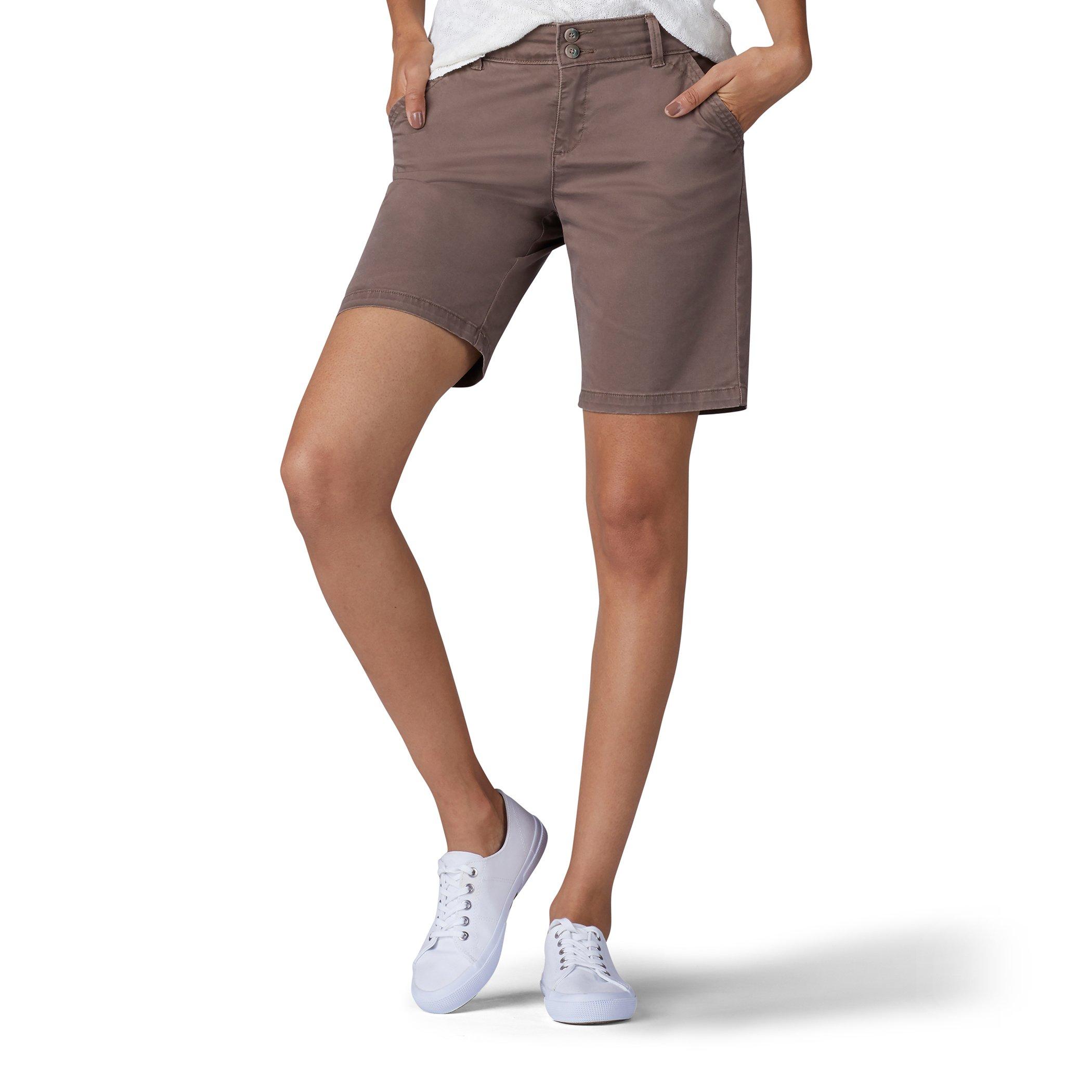 LEE Women's Straight Fit Tailored Chino Bermuda Short, Vintage deep Breen, 10