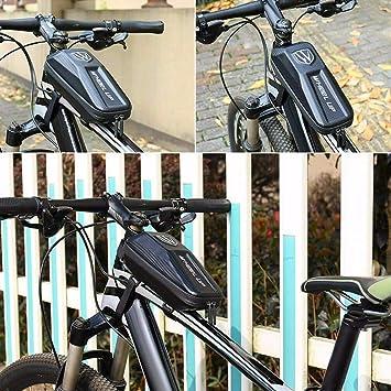 SMILEQ Marco Frontal de Bicicleta Bolsa Impermeable Bolsa de ...