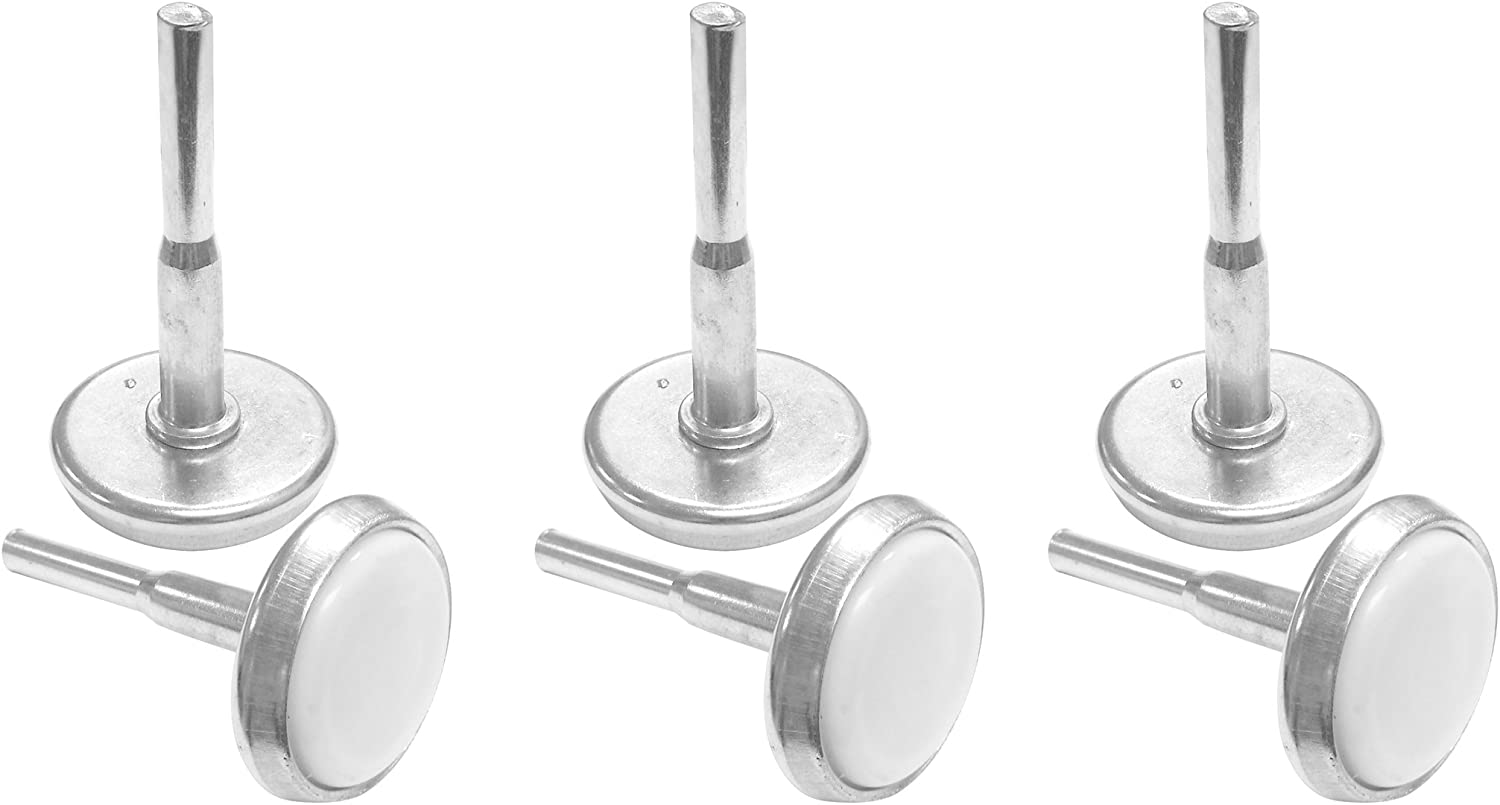 Kings Brand 1-Piece Steel Stem Bed Frame Glide Legs to Replace Wheels ~Set of 6 Glides~